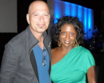 In Los Angeles with actor Howie Mendel